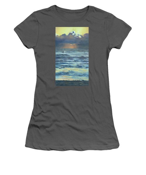 Women's T-Shirt (Junior Cut) featuring the painting After The Storm by Lori Brackett