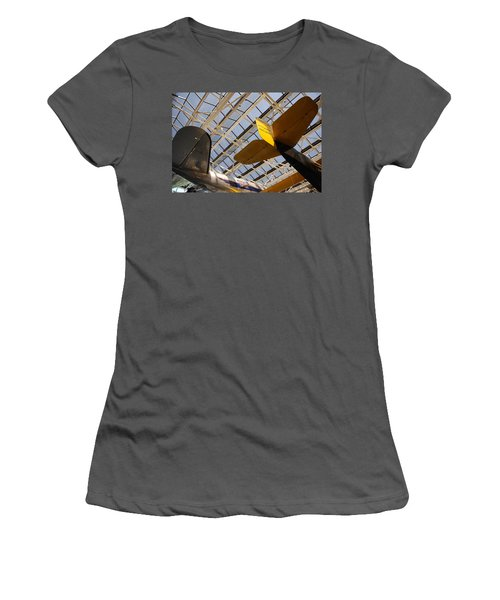 Airplane Rudders Women's T-Shirt (Athletic Fit)