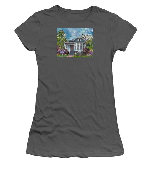 Alameda 1884 - Eastlake Cottage Women's T-Shirt (Junior Cut) by Linda Weinstock