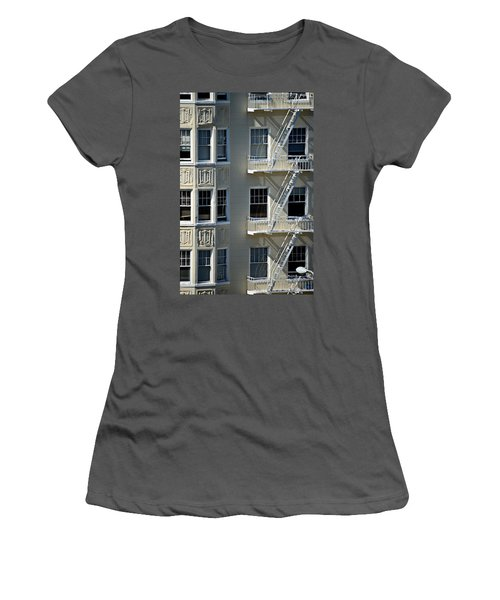Women's T-Shirt (Junior Cut) featuring the photograph Alamo Square San Francisco by Steven Richman