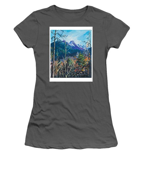 Alaska Autumn Women's T-Shirt (Junior Cut) by Yulia Kazansky