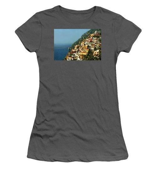 Amalfi Coast Hillside II Women's T-Shirt (Junior Cut) by Steven Sparks
