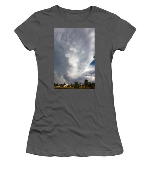 Amazing Storm Clouds Women's T-Shirt (Athletic Fit)