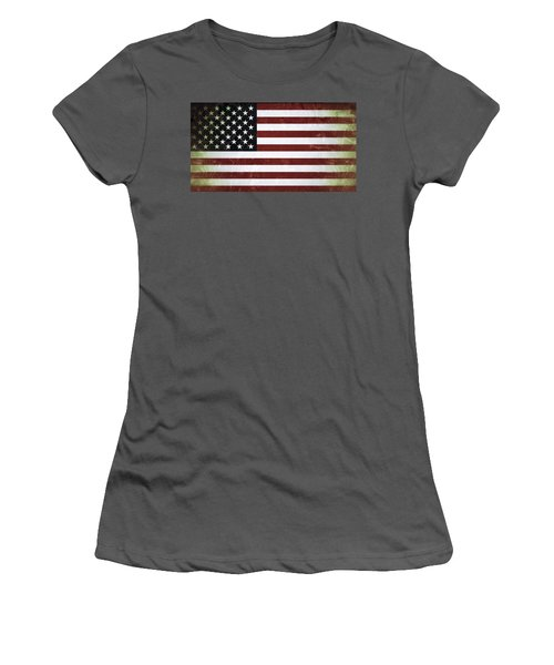 American Flag Women's T-Shirt (Athletic Fit)