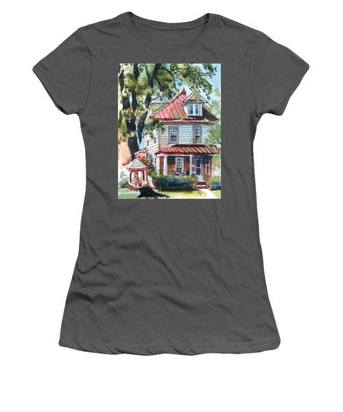 American Home With Children's Gazebo Women's T-Shirt (Athletic Fit)
