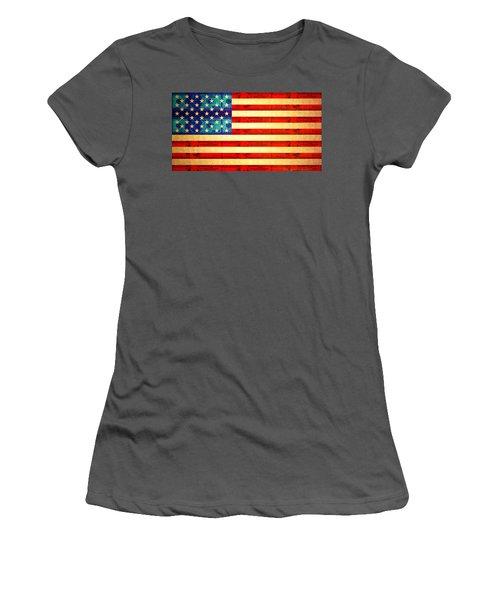 American Money Flag Women's T-Shirt (Athletic Fit)