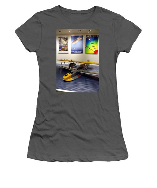 Amphibious Plane And Era Posters Women's T-Shirt (Athletic Fit)
