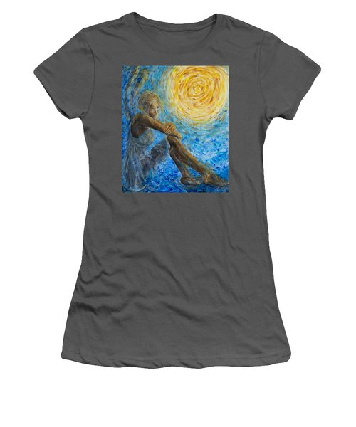 Angel Moon II Women's T-Shirt (Athletic Fit)