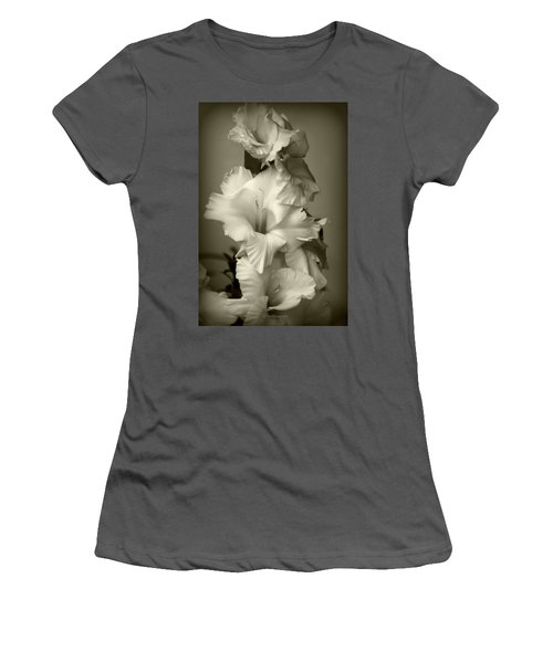 Antiqued Gladiolus Women's T-Shirt (Athletic Fit)