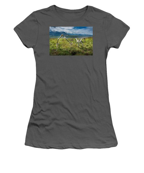 Antlers On The Hill Women's T-Shirt (Athletic Fit)