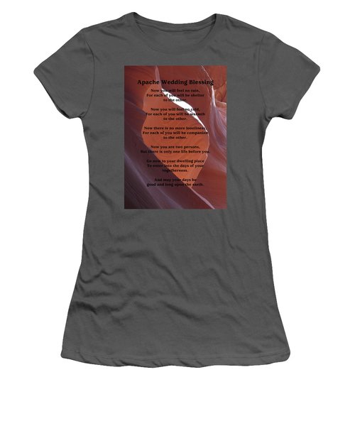Apache Wedding Blessing On Canyon Photo Women's T-Shirt (Athletic Fit)