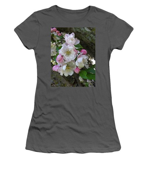 Apple Blossom Bouquet Women's T-Shirt (Junior Cut) by Sara  Raber