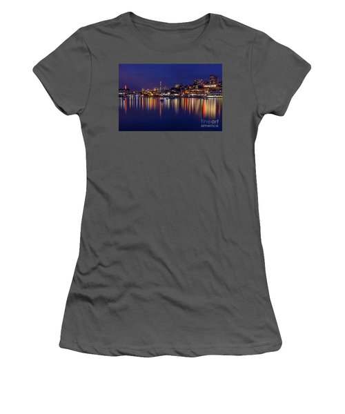 Aquatic Park Blue Hour Wide View Women's T-Shirt (Athletic Fit)