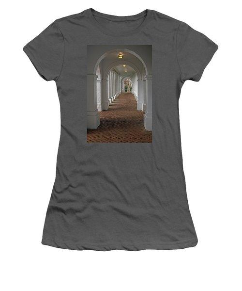 Arches At The Rotunda At University Of Va Women's T-Shirt (Junior Cut) by Jerry Gammon
