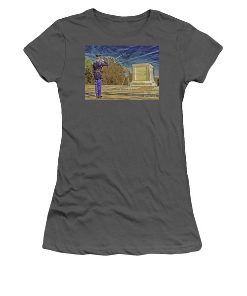 Arlington Cemetery Tomb Of The Unknowns Women's T-Shirt (Athletic Fit)