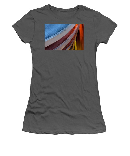 Around And Down Women's T-Shirt (Athletic Fit)