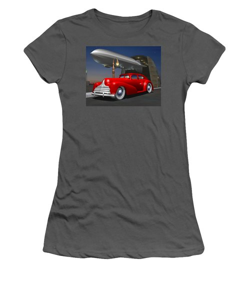 Art Deco Sedan Women's T-Shirt (Athletic Fit)