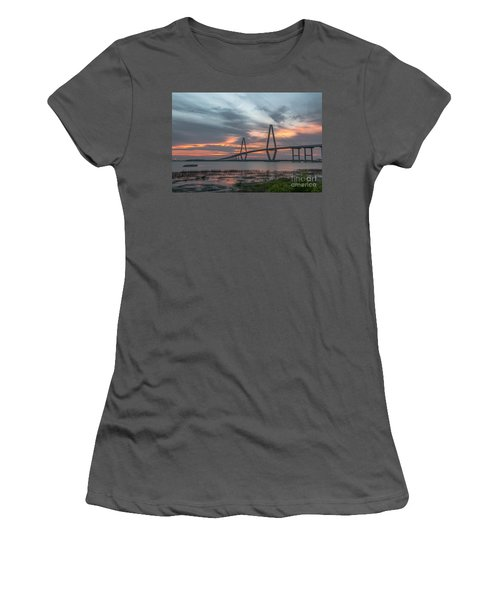 Women's T-Shirt (Junior Cut) featuring the photograph Orange Nebulous by Dale Powell