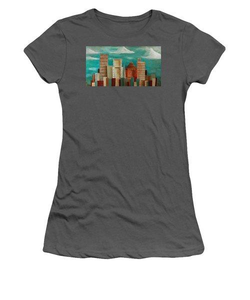 Asheville Skyline Women's T-Shirt (Athletic Fit)