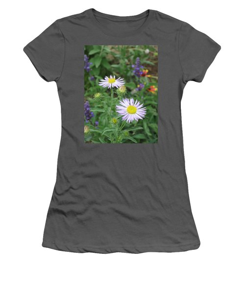 Asters In Close-up Women's T-Shirt (Athletic Fit)