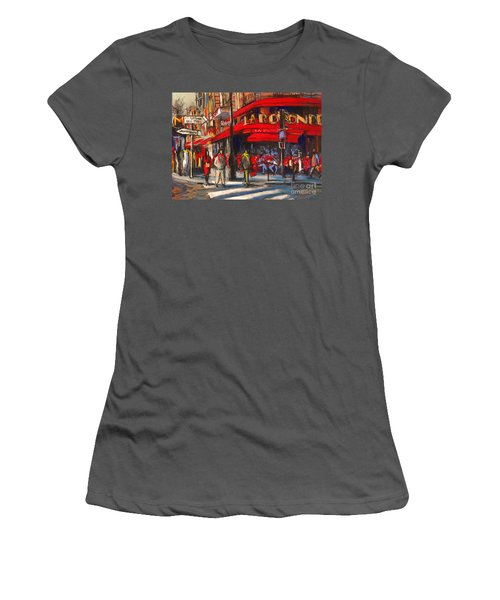 At The Cafe De La Rotonde Paris Women's T-Shirt (Athletic Fit)