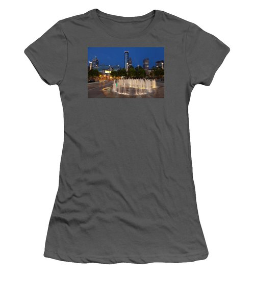 Atlanta By Night Women's T-Shirt (Junior Cut) by Alexey Stiop