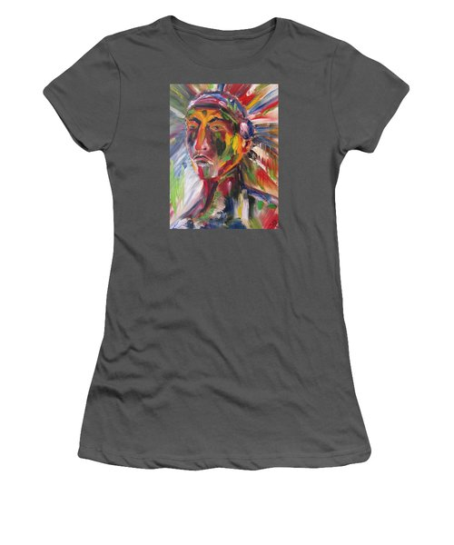 Atsila, Native American Women's T-Shirt (Athletic Fit)