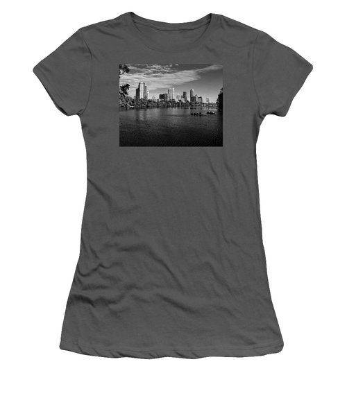 Austin Skyline Bw Women's T-Shirt (Junior Cut) by Judy Vincent