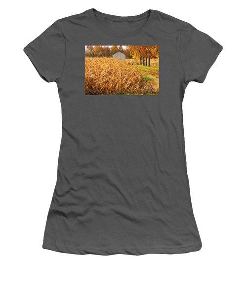 Autumn Corn Women's T-Shirt (Athletic Fit)