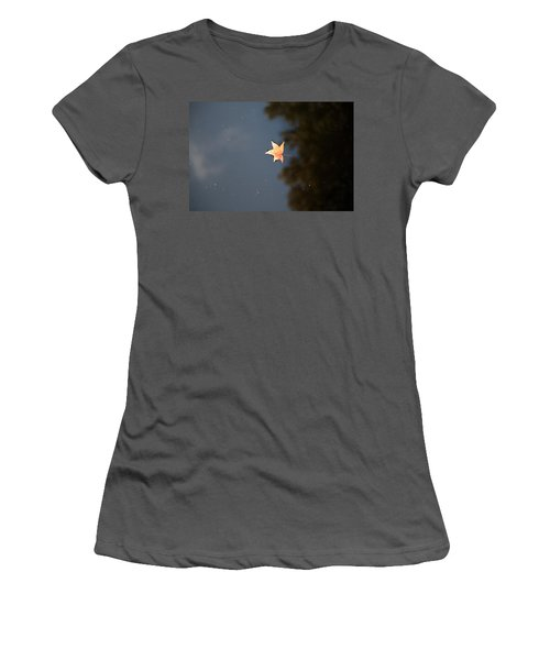 Women's T-Shirt (Junior Cut) featuring the photograph Autumn Floating By by Rebecca Davis