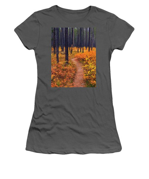 Women's T-Shirt (Junior Cut) featuring the photograph Autumn In Yellowstone by Raymond Salani III