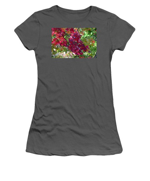 Autumn Leaves Reflections Women's T-Shirt (Athletic Fit)