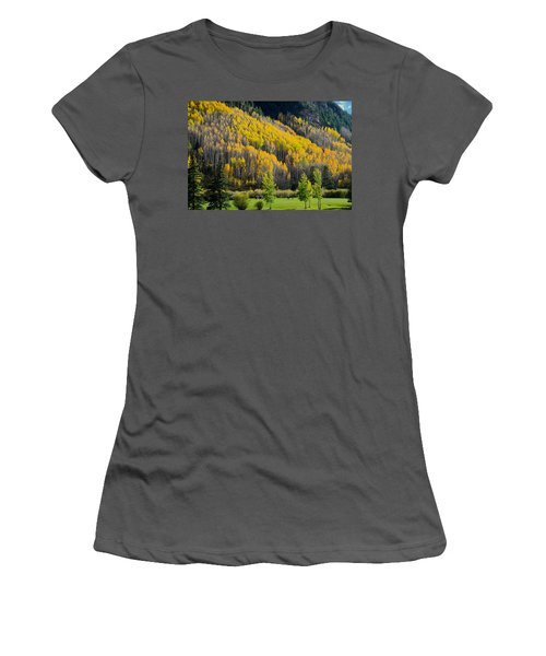 Autumn On The Links Women's T-Shirt (Athletic Fit)