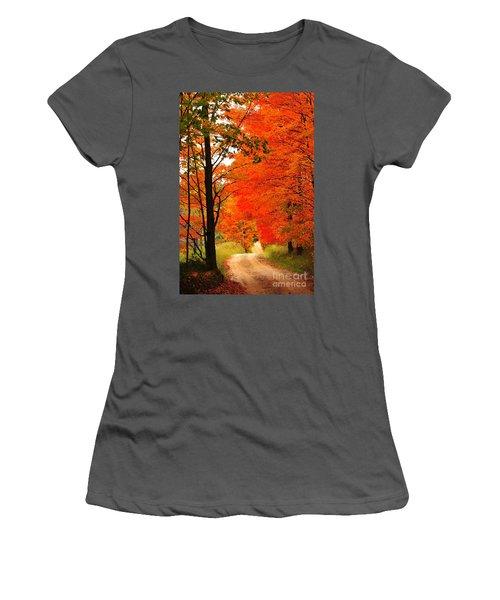 Autumn Orange 2 Women's T-Shirt (Athletic Fit)