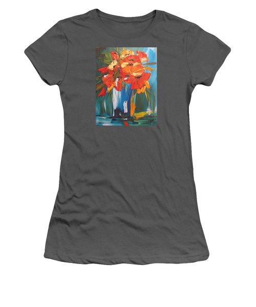 Autumn Vase Women's T-Shirt (Junior Cut) by Terri Einer