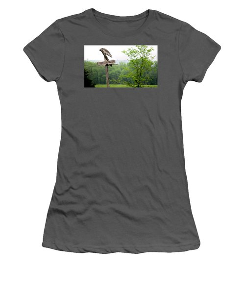 Women's T-Shirt (Junior Cut) featuring the photograph B-ball History by Brian Duram