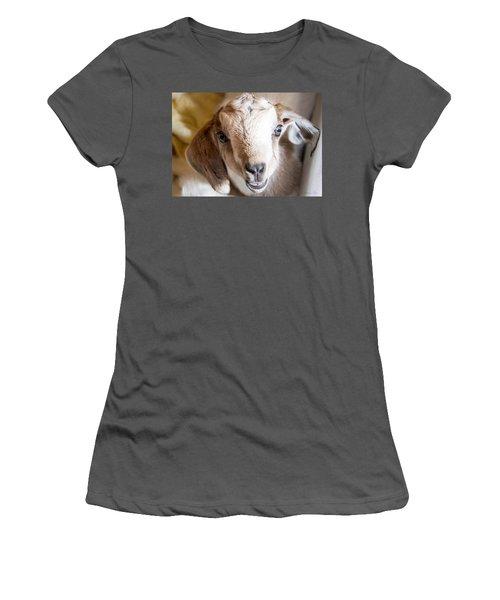 Baby Goat Face Women's T-Shirt (Junior Cut)