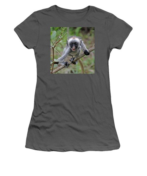 Baby Red Colobus Monkey Women's T-Shirt (Athletic Fit)