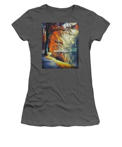 Women's T-Shirt (Junior Cut) featuring the painting Back To Our Dreams by Joe Misrasi