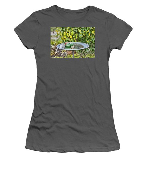 Balls In Water Women's T-Shirt (Athletic Fit)