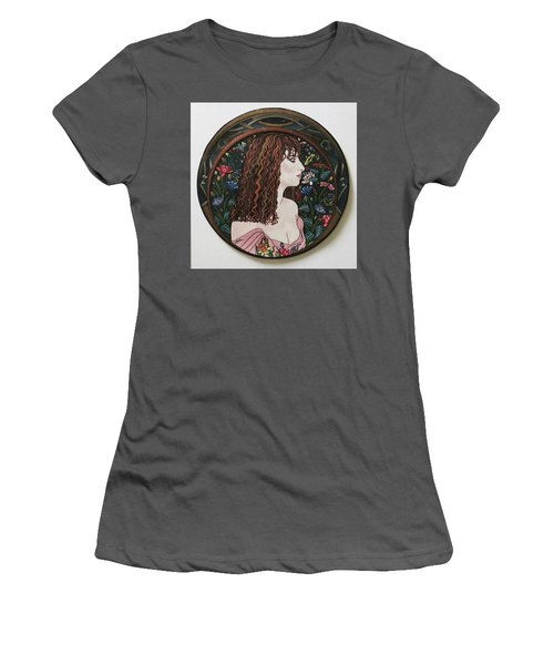 Barbra's Garden Women's T-Shirt (Junior Cut) by Richard Laeton