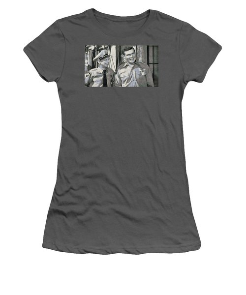 Barney Fife And Andy Taylor Women's T-Shirt (Athletic Fit)