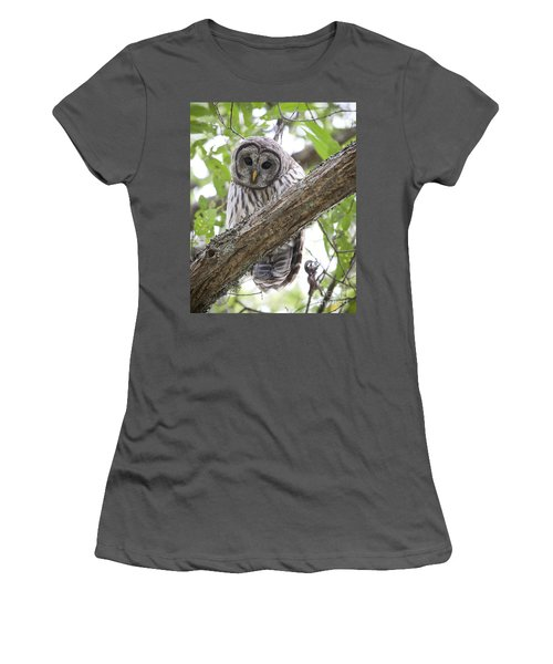 Barred Owl Women's T-Shirt (Athletic Fit)