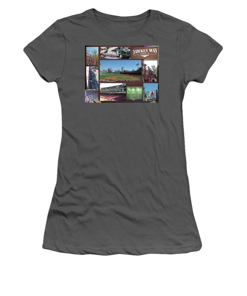 Women's T-Shirt (Junior Cut) featuring the photograph Baseball Collage by Barbara McDevitt
