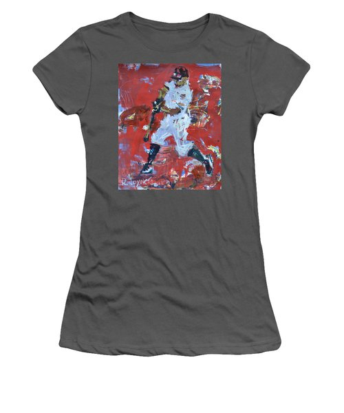 Baseball Painting Women's T-Shirt (Athletic Fit)
