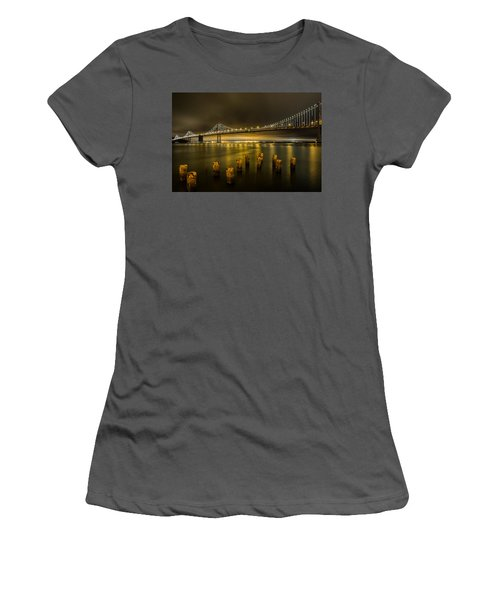Bay Bridge And Clouds At Night Women's T-Shirt (Athletic Fit)