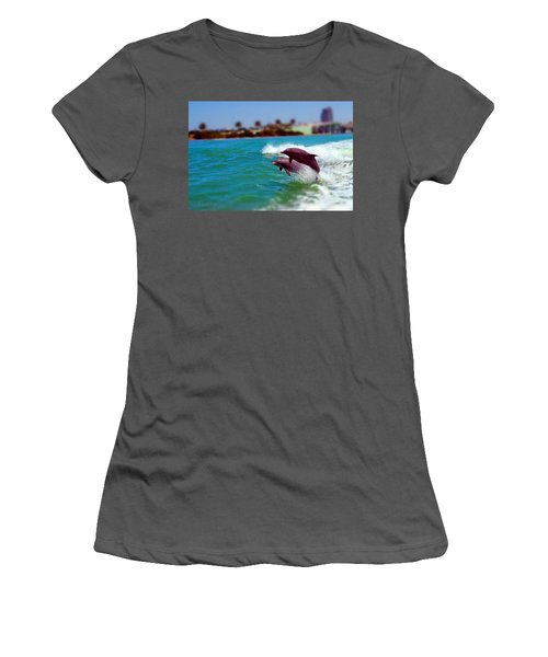 Bay Dolphins Women's T-Shirt (Athletic Fit)