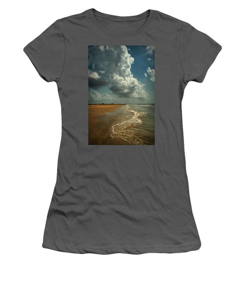 Beach And Clouds Women's T-Shirt (Athletic Fit)