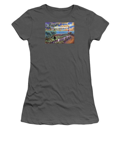 Beacons In The Moonlight Women's T-Shirt (Junior Cut) by Retta Stephenson