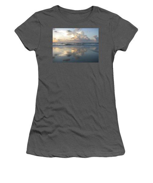 Beautiful Beach Sunrise Women's T-Shirt (Athletic Fit)
